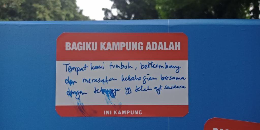 Definisi Kampung Kota menurut Gubernur Anies