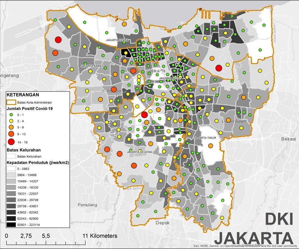 Korelasi Kepadatan Penduduk dan Penyebaran COVID19 - Rujak